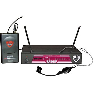 Nady-UHF-4-LT-HM-1--115--Headset-Wireless-System-Ch-15