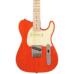 G-L-ASAT-Classic-Custom-Electric-Guitar-Clear-Orange-Maple-Fretboard