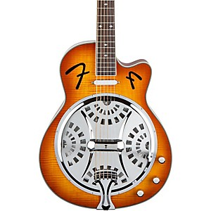 Fender-FR50CE-Cutaway-Acoustic-Electric-Resonator-Guitar-Sunburst