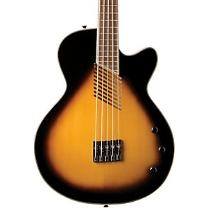 Washburn-AB45-5-String-Acoustic-Electric-Bass-Vintage-Sunburst