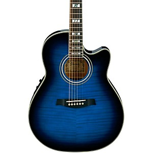 Ibanez-AEF30E-Acoustic-Electric-Guitar-Trans-Blue-Sunburst