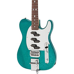 G-L-Will-Ray-Signature-Guitar-Turquoise-Metal-Flake