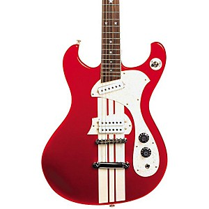 DiPinto-Mach-IV-Electric-Guitar-Red-With-White-Racing-Stripes