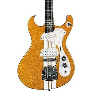 DiPinto-Mach-IV-T-Electric-Guitar-Gold-Sparkle-With-White-Racing-Stripes