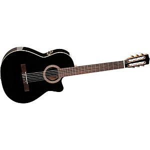La-Patrie-Hybrid-CW-Black-Nylon-String-Guitar-Black-High-GLoss