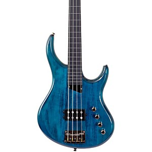 MTD-Kingston-Artist-Fretless-Bass-Guitar-Trans-Blue-Ebonol