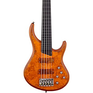 MTD-Kingston-KZ-5-String-Fretless-Bass-Burled-Maple-Ebonol