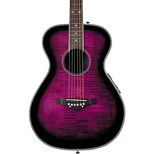 Daisy-Rock-Pixie-Acoustic-Electric-Guitar-Left-Handed-Plum-Purple-Burst
