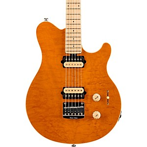 Music-Man-Axis-SuperSport-HH-Electric-Guitar-Translucent-Gold-Maple-Fretboard