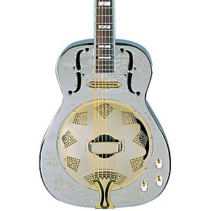 Dean-Chrome-G-Acoustic-Electric-Resonator-Guitar-Chrome-Gold