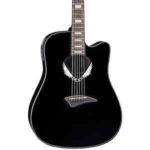 Dean-V-Wing-Cutaway-Dreadnought-Acoustic-Electric-Guitar-Black