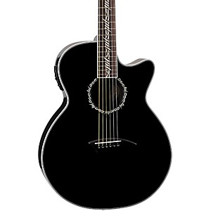 Dean-Performer-Tribal-Cutaway-Acoustic-Electric-Guitar-Classic-Black