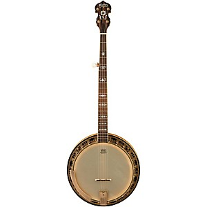 Washburn-B120-Natural-Distressed-5-String-Banjo-w-case-Natural-Distressed