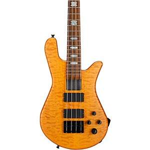 Spector-NS-4H2-FM-USA-4-String-Bass-Guitar-Golden-Stain-Black-Hardware