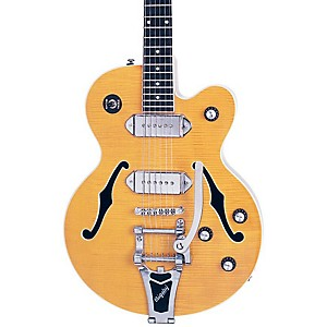Epiphone-Wildkat-Hollowbody-Electric-Guitar-with-Bigsby-Antique-Natural-Chrome