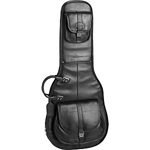 Reunion-Blues-Sonoma-Electric-Guitar-Gig-Bag-Black-Leather-Gunmetal-Hardware