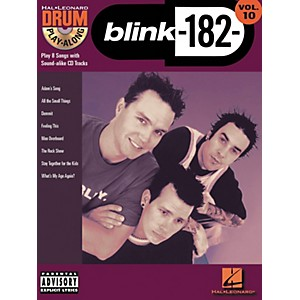 Hal-Leonard-Blink-182-Drum-Play-Along-Series-Volume-10--Book-CD--Standard