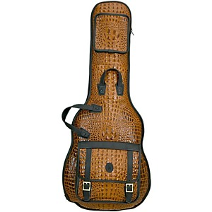 Levy-s--Crocodile--Leather-Electric-Guitar-Gig-Bag-Tan
