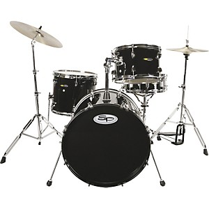 Sound-Percussion-4-Piece-Drum-Set-with-Cymbals-Black