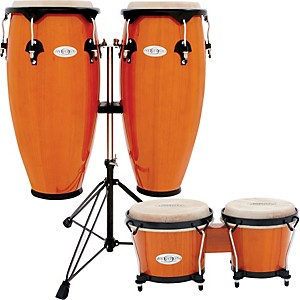 toca-Synergy-Conga-Set-with-Stand-and-Bongos-Amber