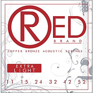 Red-Strings-Copper-Bronze-Acoustic-Guitar-Strings---Extra-Light-Standard