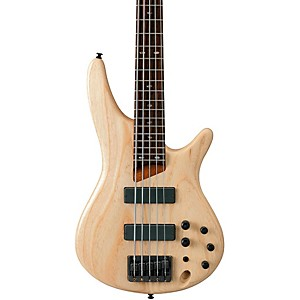 Ibanez-SR605-5-String-Bass-Guitar-Natural-Flat