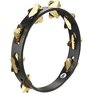 Meinl-Super-Dry-Studio-Wood-Tambourine-One-Row-Brass-Jingles-Black
