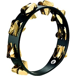 Meinl-Super-Dry-Studio-Wood-Tambourine-Two-Rows-Brass-Jingles-Black