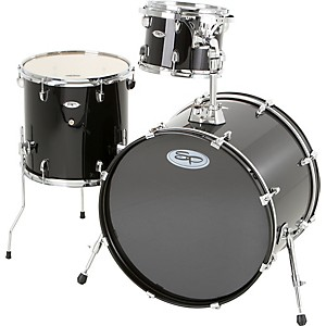 Sound-Percussion-Pro-3-Piece-Double-Bass-Add-On-Pack--Chrome-Hoops-and-Lugs--Black