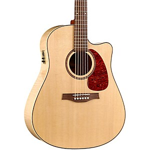 Seagull-Performer-Cutaway-Flame-Maple-High-Gloss-QI-Acoustic-Electric-Guitar-Natural