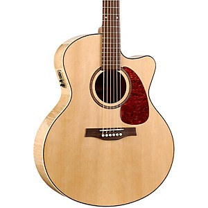 Seagull-Performer-Cutaway-Mini-Jumbo-Flame-Maple-High-Gloss-QI-Acoustic-Electric-Guitar-Natural