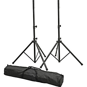 ProLine-PLSP1-Speaker-Stand-Set-with-Bag-Black