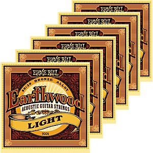 Ernie-Ball-2004-Earthwood-80-20-Bronze-Light-Acoustic-Guitar-Strings-6-Pack-Standard