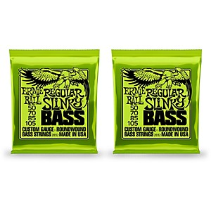 Ernie-Ball-2832-Regular-Slinky-Round-Wound-Bass-Strings-2-Pack-Standard