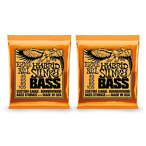 Ernie-Ball-2833-Hybrid-Slinky-Round-Wound-Bass-Strings-2-Pack-Standard