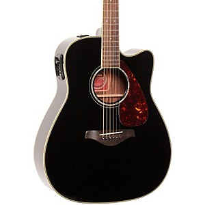 Yamaha-FGX730SC-Solid-Top-Acoustic-Electric-Guitar-Black