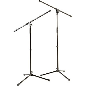 Musician-s-Gear-Tripod-Mic-Stand-with-Fixed-Boom--2-Pack--Standard