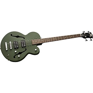 Normandy-4-String-Archtop-Electric-Bass-Guitar-Powdercoated-Army-Green