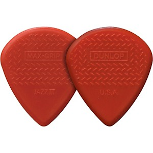 Dunlop-Nylon-Max-Grip-Jazz-III-Guitar-Picks-6-Pack-1-38-mm