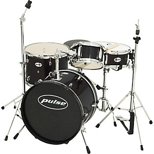 Pulse-4-piece-Junior-Drum-Set-Black