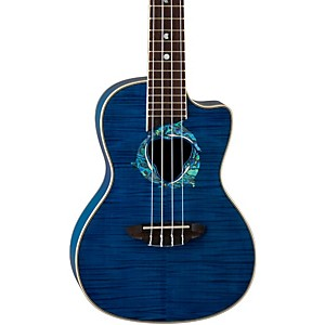 Luna-Guitars-Dolphin-Concert-Acoustic-Electric-Ukulele-Trans-Blue-Flame-Maple