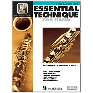 Hal-Leonard-Essential-Technique-2000-Bb-Bass-Clarinet--Book-3-with-CD--Standard