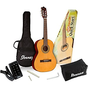 Ibanez-IJC30-Quickstart-3-4-Scale-Classical-Guitar-Pack-Natural