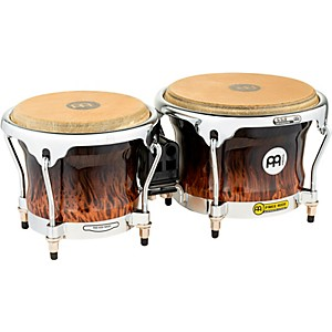Meinl-Free-Ride-Series-High-Gloss-Wood-Bongos-BROWN-BURL-7-inch-and-8-1-2-inch