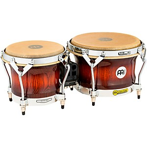 Meinl-Free-Ride-Series-Woodcraft-Bongos-ANTIQUE-MAHOGANY-BURST-7-inch-and-9-inch