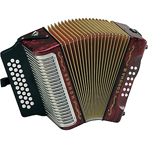 Hohner-Corona-III-FBbEb-Accordion-Pearl-Red
