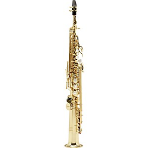 Allora-Vienna-Series-Intermediate-Straight-Soprano-Saxophone-with-Two-Necks-AASS-502---Lacquer