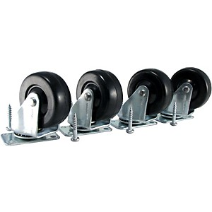 Ernie-Ball-Amp-Caster-Standard-Plate-Mount-Set-of-4-Standard