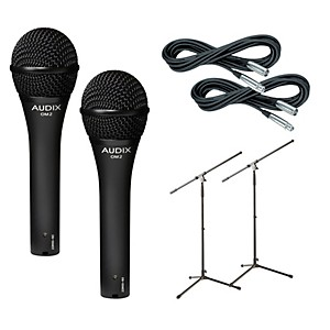 Audix-OM-2-Mic-with-Cable-and-Stand-2-Pack-Standard