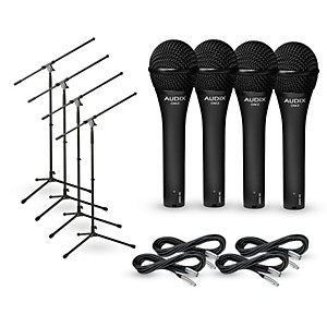 Audix-OM-2-Mic-with-Cable-and-Stand-4-Pack-Standard